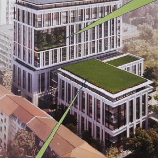 Десететажна офис сграда на мястото на бившето чешко посолство в София